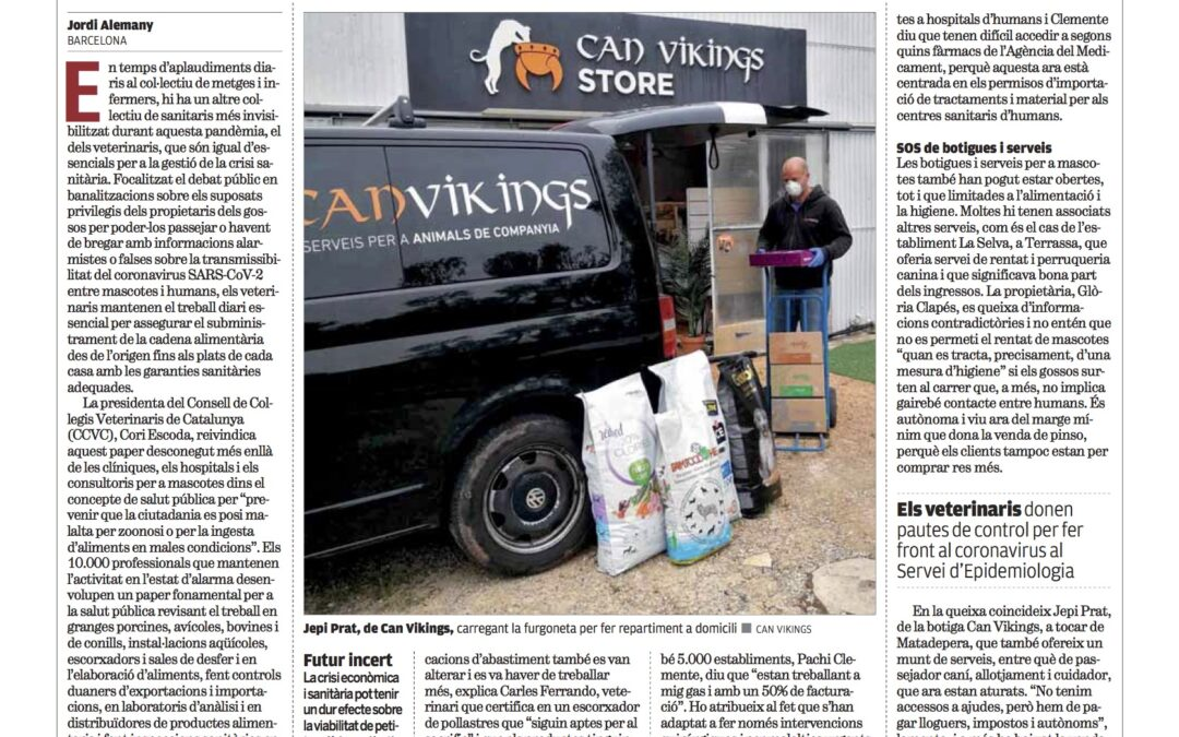 Escrit al diari Punt Avui sobre la situció deguda al Covid-19